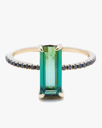 Yi Collection Tourmaline and Black Diamond Ring