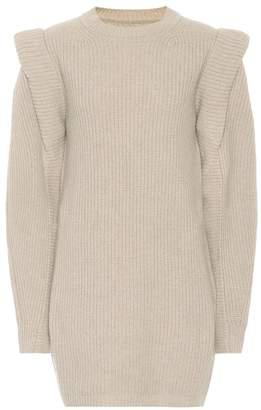 Isabel Marant Beatsy cashmere and wool minidress
