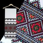 Rushnichok Motheri's DAY GIFT IDEA !! Ukrainian RUSHNYK Hand Embroidered Towel Multycolor Slavic wedding Gift EASTER SALE