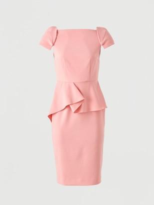 Very Peplum Waist Structured Mini Dress Pink