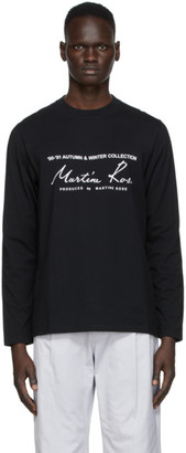 Martine Rose Black Classic Long Sleeve T-Shirt