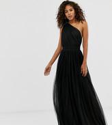 Asos DESIGN Tall one shoulder tulle maxi dress