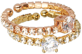 Love Rocks Crystal & Two-Tone Stacker Ring Set