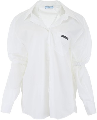 Prada Logo Patch Oversized Shirt
