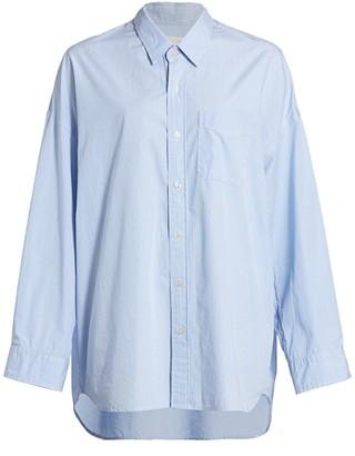 R 13 Drop Neck Oxford Shirt