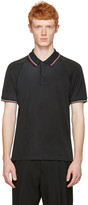 Lanvin Black Distressed Polo