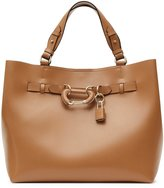 Reiss Bleecker - Structured Leather Tote in Brown, Womens