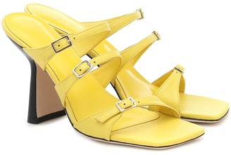 BY FAR Exclusive to Mytheresa Malene leather sandals