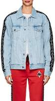 Marcelo Burlon County of Milan Women's Logo-Jacquard-Trimmed Denim Jacket