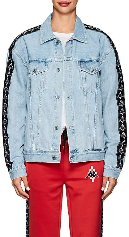 Marcelo Burlon County of Milan Women's Logo-Jacquard-Trimmed Denim Jacket