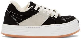 Palm Angels Black Suede Snow Low Top Sneakers