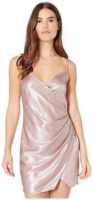 BCBGeneration Side Pleated Cami Woven Dress TMK6254058 (Lavender Mist) Women's Clothing