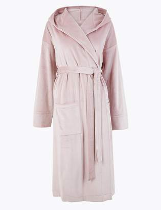 M&S CollectionMarks and Spencer Island Fleece Hooded Dressing Gown