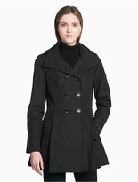 Calvin Klein Double Breasted Hooded Raincoat