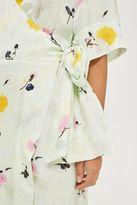Topshop Marble floral wrap dress
