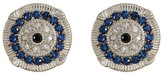 Judith Ripka Sterling Silver Sapphire Evil Eye Earrings
