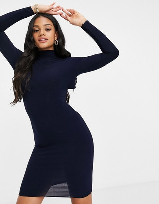 Club L London Club L cut out back mini dress in navy