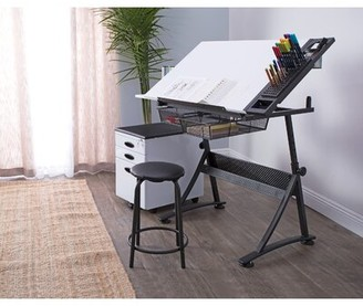 Studio Designs Fusion Height Adjustable Drafting Table and Chair Set