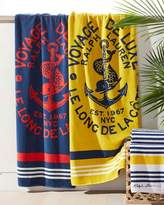 Ralph Lauren Home Kacie Beach Towel with Crest