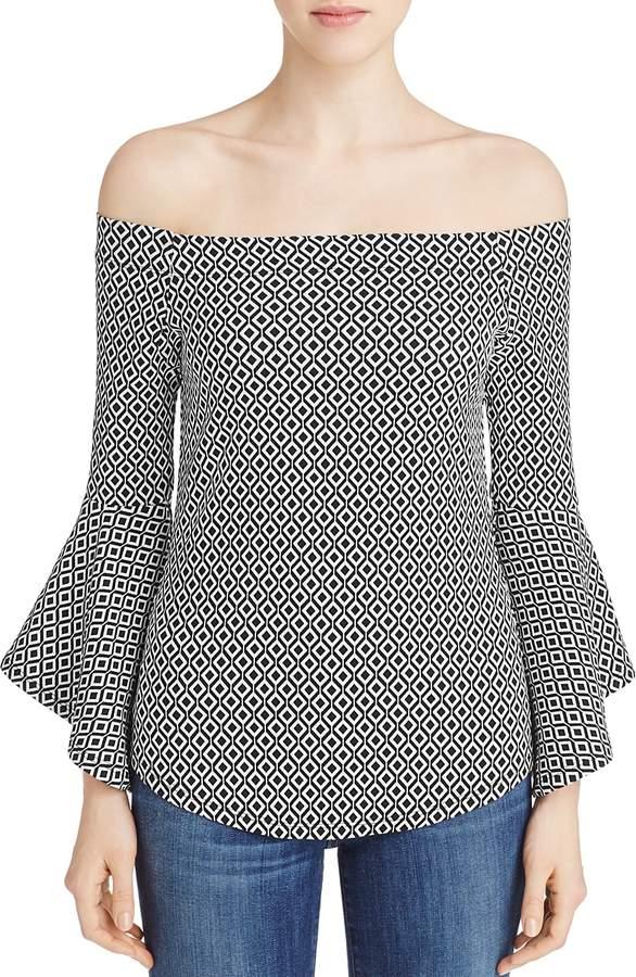 Karen Kane Off-the-Shoulder Bell Sleeve Top