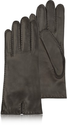 Forzieri Women's Cashmere Lined Dark Brown Italian Leather Gloves