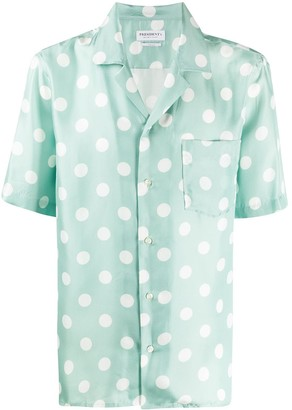 President's Polka Dot Silk Shirt