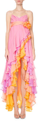 Marc Jacobs Runway) Tiered Cascading Chiffon Cocktail Dress