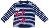 Jo-Jo JoJo Maman Bebe Air Show Top (Baby) - Navy/White Stripe-18-24 Months