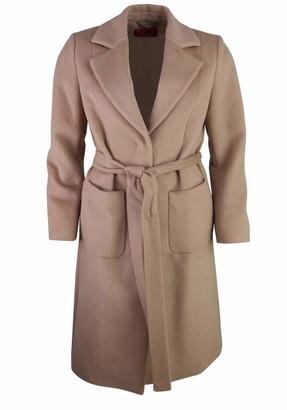 HUGO BOSS Women's Mesua Wool Blend Coat