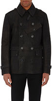 Ralph Lauren Black Label MEN'S LEATHER PEACOAT-BLACK SIZE M
