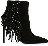 Saint Laurent fringed ankle boots - women - Leather/Suede/Metal (Other) - 36