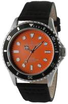 PEUGEOT Watches Peugeot Men's Sports Bezel Canvas Strap Watch - Orange