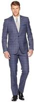 Nick Graham Plaid 32 Finished Bottom Suit (Denim Blue) Men's Suits Sets