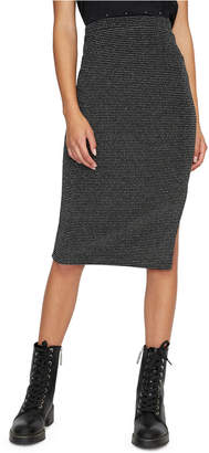 Sanctuary Metallic-Knit Pencil Skirt