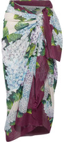 Dolce & Gabbana Floral-print Cotton-gauze Pareo