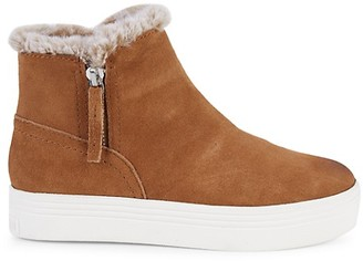 Dolce Vita Tuscan Faux Fur-Lined Suede Booties