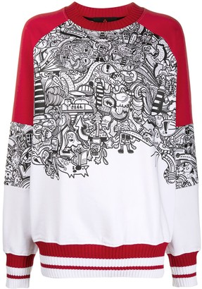 Peuterey Graphic Print Cotton Sweatshirt