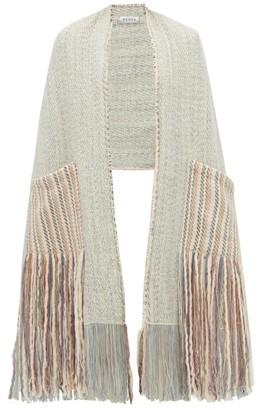 Wehve - Alma Fringed Wool-blend Shawl - Womens - White