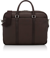 Barneys New York MEN'S DOUBLE-HANDLE BRIEFCASE-DARK BROWN