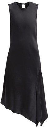 Ann Demeulemeester Asymmetric-hem Open-back Satin Dress - Black