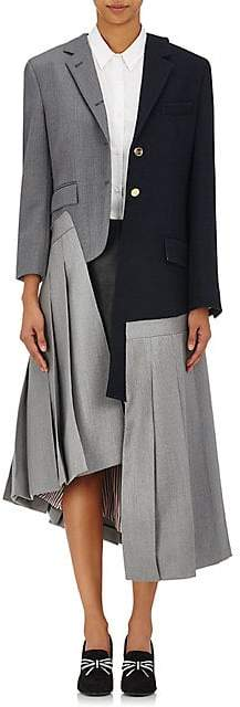 """Thom Browne Women's """"Reconstructed Classics"""" Layered Coat - Navy"""