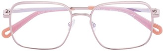 Chloé Eyewear Square-Frame Wire Glasses