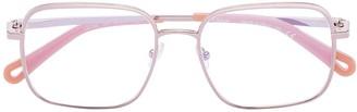 Square-Frame Wire Glasses