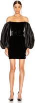 Rasario Puff Sleeve Corset Mini Dress in Black   FWRD