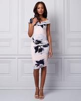 Le Château Floral Print Knit Off-the-Shoulder Dress