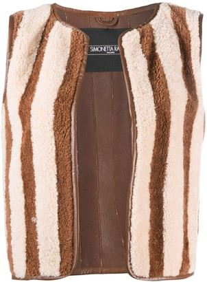 Simonetta Ravizza Striped Gilet Jacket