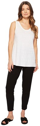 Eileen Fisher Petite Viscose Jersey Slim Ankle Slouchy Pants