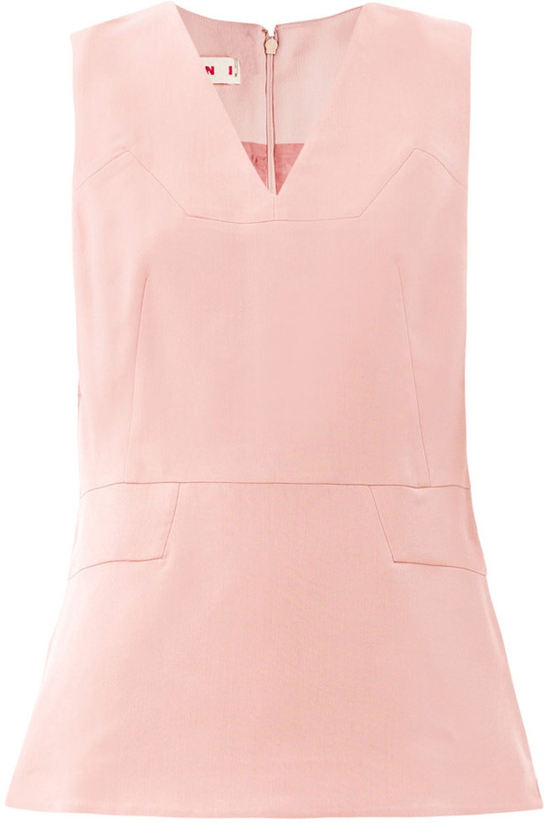 Marni Double-faced wool top