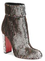 Christian Louboutin Moulamax 85 Sequin Block Heel Booties