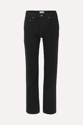 Balenciaga Distressed High-rise Straight-leg Jeans - Black